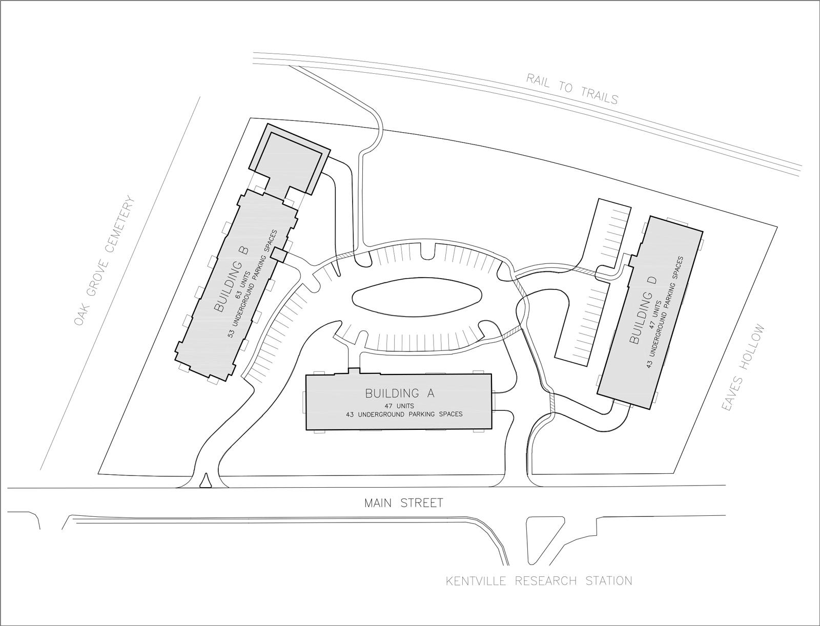 Building B Site Plan Miners Landing Kentville apartments